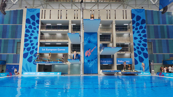 European Games 2015 boards in action